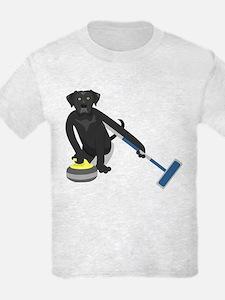 Black Lab Curling T-Shirt