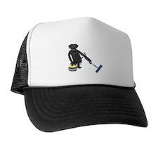 Black Lab Curling Trucker Hat