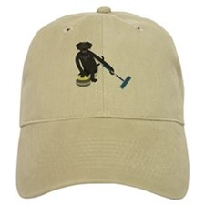 Black Lab Curling Baseball Cap