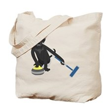Black Lab Curling Tote Bag