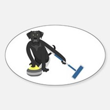 Black Lab Curling Decal