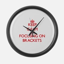Brackets Large Wall Clock