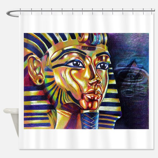 egyptian shower curtains egyptian fabric shower curtain liner. Black Bedroom Furniture Sets. Home Design Ideas