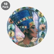 """Best Seller Egyptian Neferti 3.5"""" Button (10 pack)"""