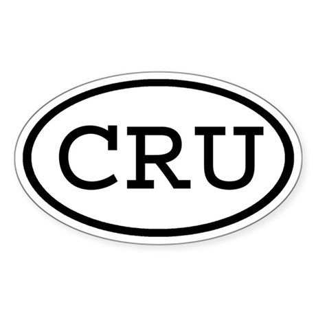 CRU Oval Oval Sticker