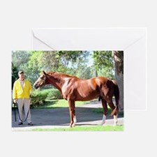 "SECRETARIAT - ""Big Red"" Greeting Cards"