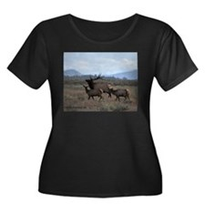 Rocky Mountain Elk Plus Size T-Shirt