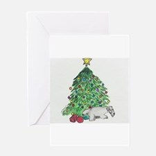 "Cesky Terrier ""My Tree"" Greeting Card"