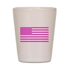 U.S. Flag: Pink Shot Glass
