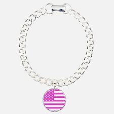 U.S. Flag: Pink Bracelet