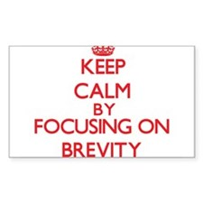 Brevity Decal