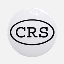 CRS Oval Ornament (Round)