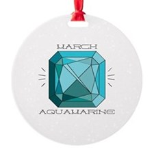 March Aquamarine Ornament