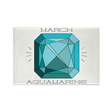 March Aquamarine Magnets