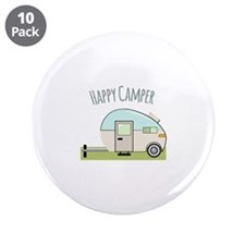 "Happy Camper 3.5"" Button (10 pack)"