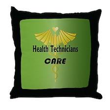 Health Technicians Care Throw Pillow