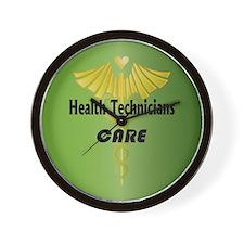 Health Technicians Care Wall Clock