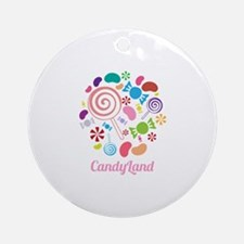 Candy Land Ornament (Round)