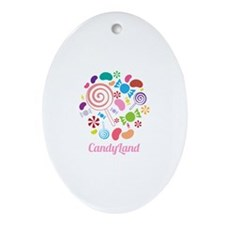 Candy Land Ornament (Oval)
