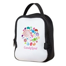 Candy Land Neoprene Lunch Bag