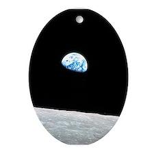 Apollo 8 Earthrise Space Christmas Ornament (oval)