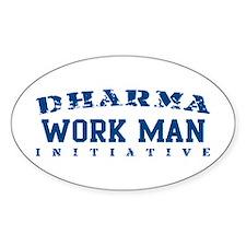 Work Man - Dharma Initiative Oval Decal