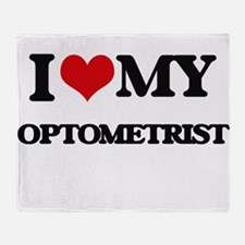 I love my Optometrist Throw Blanket