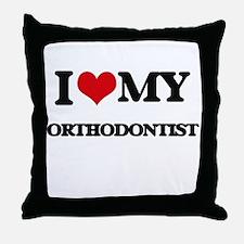 I love my Orthodontist Throw Pillow