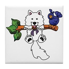 Cute Samoyed Tile Coaster