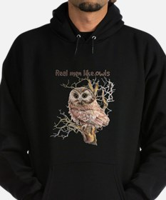 Real men like Owls Humor Bird Quote Hoodie