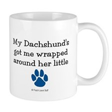 Wrapped Around Her Paw (Dachshund) Mug
