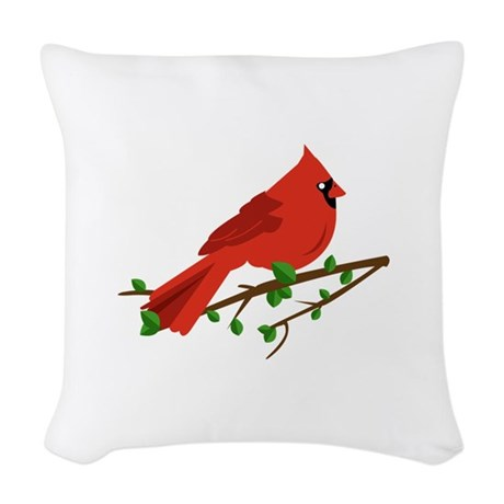Cardinal Bird Throw Pillows : Cardinal Bird Woven Throw Pillow by Windmill21