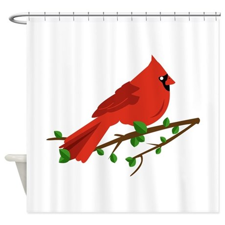 Cardinal Bird Shower Curtain By Windmill21