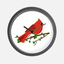 Cardinal Bird Wall Clock