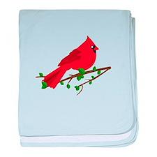 Cardinal Bird baby blanket