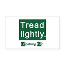 Tread Lightly Breaking Bad Rectangle Car Magnet