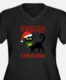 Cat lover Perfect Christmas Plus Size T-Shirt