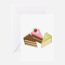 Cake Slices Greeting Cards