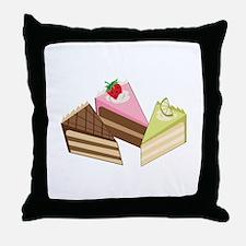 Cake Slices Throw Pillow