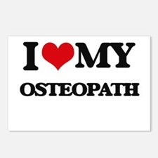 I love my Osteopath Postcards (Package of 8)