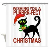 Christmas and cats Shower Curtains