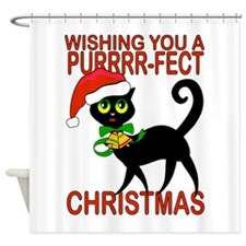 Cat lover Perfect Christmas Shower Curtain
