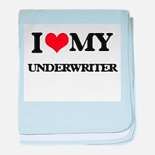 I love my Underwriter baby blanket