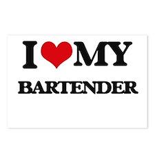 I love my Bartender Postcards (Package of 8)