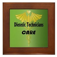 Dietetic Technicians Care Framed Tile