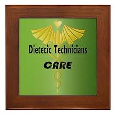 Dietetic Technicians Care Framed Tile