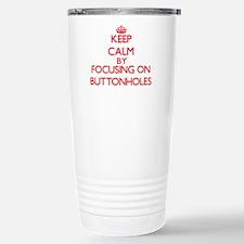 Buttonholes Stainless Steel Travel Mug