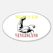 Músculo Venezolano Oval Decal
