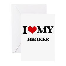 I love my Broker Greeting Cards