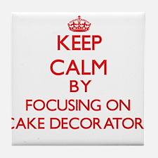 Cake Decorators Tile Coaster
